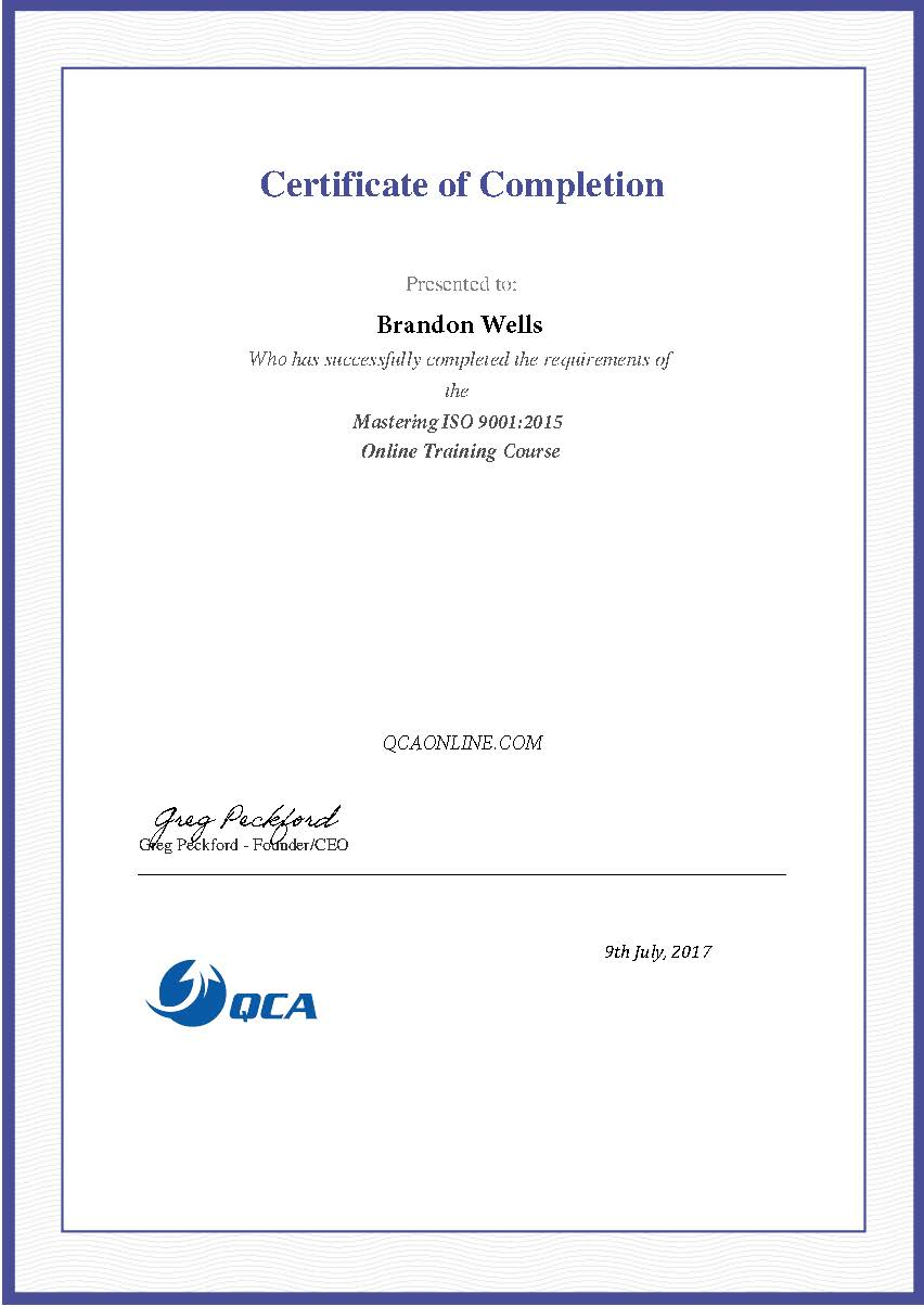 Brandon completed the training program and got his certificate which we shared with over 13000 professionals, executives, managers, and business owners via LinkedIn.