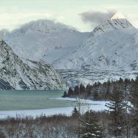 Portage Lake by Patricia Phillips - Landscapes Travel ( winter portage lakes alaska )