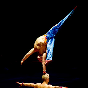 Circus Performers by Janice Rimmer - People Musicians & Entertainers ( contortionists )