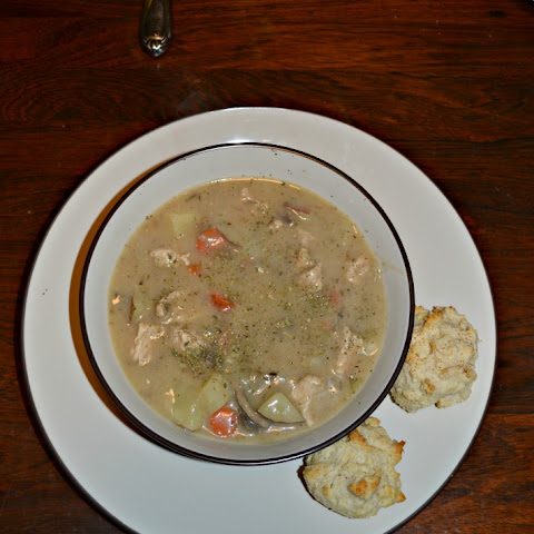 Turkey and Vegetable Stew with Biscuits