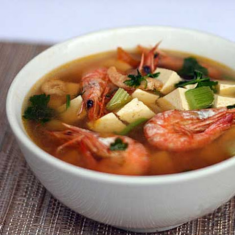 Shrimp and Tofu Soup