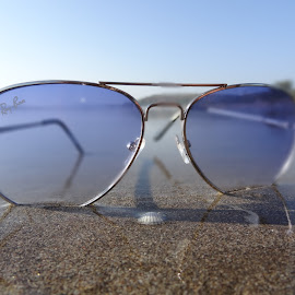 classy shades by Avinesh Kumar - Artistic Objects Clothing & Accessories ( sand, shades, sunny, sea, ray of light, beach, sunglasses )