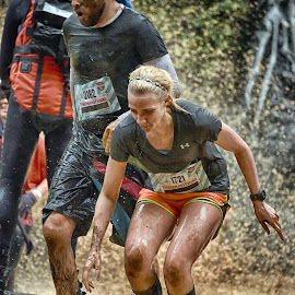 by Marco Bertamé - Sports & Fitness Other Sports ( water, splatter, splash, differdange, straw, 2015, blond, number, soup, running, luxembourg, muddy, red, strong, woman, determined, lady, brown, 1721, strongmanrun, man, 2182 )