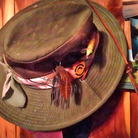 Cecil's Hat by Allen Crenshaw - Digital Art Things ( white river, tribute, fisherman, photography, hat, arkansas )