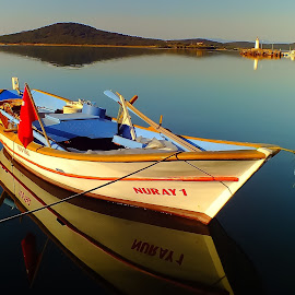 A Boat in Cunda by Arda Erlik - Transportation Boats ( cunda )