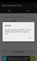 Screenshot of Meal Calculator (Free)
