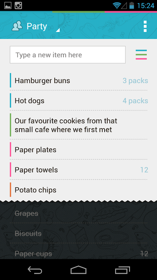 Buy Me a Pie! Grocery List Pro Screenshot 0