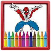 Game SuperHeroes Coloring Pages for kids APK for Windows Phone