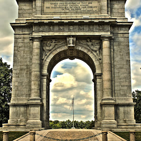 Arch at Valley Forge by Steph Doyle - Buildings & Architecture Public & Historical ( valley forge, george washington, arch )