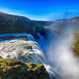 Waterfall in Iceland by Jack Nevitt - Landscapes Waterscapes ( ring, iceland, gorge, waterfall, south, mist )