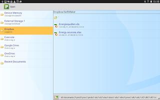 Screenshot of FREE Office: PlanMaker Mobile