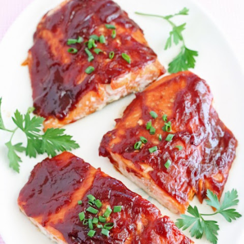Salmon with Easy Homemade Honey Barbecue Sauce