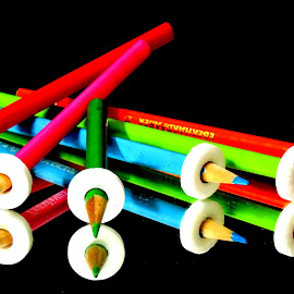 Pencils by SANGEETA MENA  - Artistic Objects Still Life