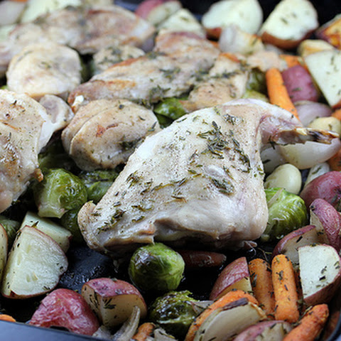One Dish Roast Rabbit with Vegetables