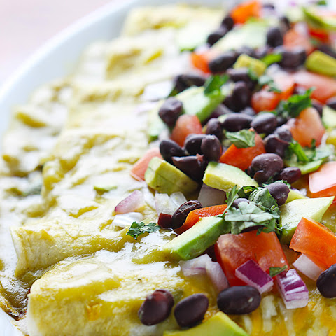 Avocado Black Bean Enchiladas