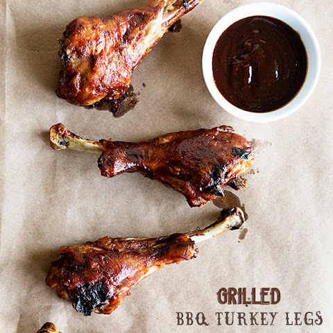Grilled BBQ Turkey Legs