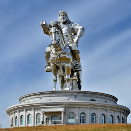 Genghis Khan by Tomasz Budziak - Artistic Objects Other Objects ( statues, monuments, asia, architecture )