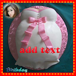 Birthday cake photo frame Icon