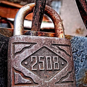 2508 by Rogz Necesito Jr. - Artistic Objects Other Objects ( 2508, lock, steel, rust, padlock )