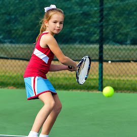 Little Star by Sylvester Fourroux - Sports & Fitness Tennis