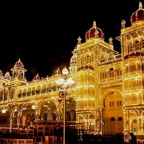 The Grand Illumination by Madhujith Venkatakrishna - Buildings & Architecture Public & Historical ( landmark, travel, night, lights, garyfonglandscapes, holiday photo contest, photocontest,  )
