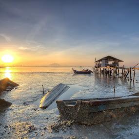 The Sunken Three by Danny Tan - Transportation Boats