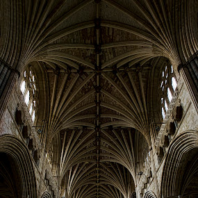 Backbone of Faith by Natalie Houlding - Buildings & Architecture Other Interior ( religion, structure, faith, cathedral, worship, exeter )
