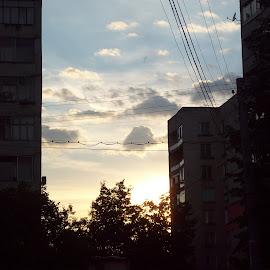 Залез by Georgi Kolev - City,  Street & Park  Skylines ( тих., град, летен., топъл., залез. )