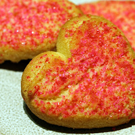 by Dipali S - Food & Drink Cooking & Baking ( colorful, bright, icing, homemade, valentine, love, pink, shortbread, iced, cookies, dessert, isolated, heart, valentines, decoration, white, shape, holiday, cookie, red, food, background, day, shaped, frosted )