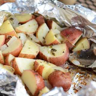 Foil Pack Grilled Red Potatoes