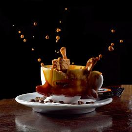 Splashh coffe by Iulian Cahul - Food & Drink Alcohol & Drinks ( coffee )