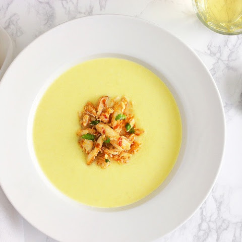 Vichyssoise With Chilli Crab
