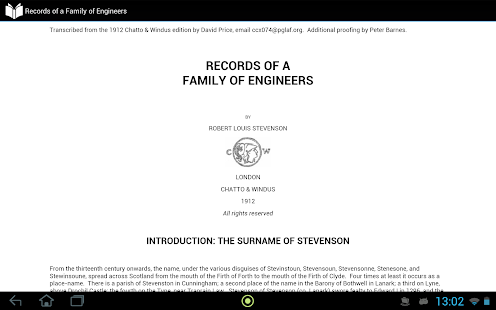 Records of Family of Engineers - screenshot