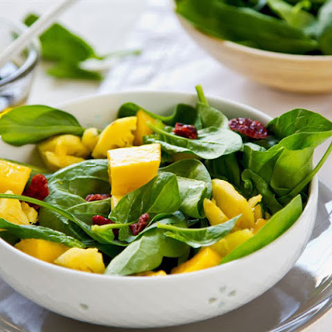 Baby Spinach and Mango Salad