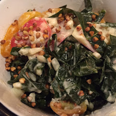 Collard Cesar salad