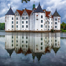Glücksburg house (Germany) by Gianluca Presto - Buildings & Architecture Homes ( home, old, water reflection, reflection, mystery, waterscape, glücksburg, reflections, architecture, house, landscape, historic, tranquil, sky, ancient, nature, tale, cloudy, germany, clouds, water, building, mysterious, lake, quiet, double, history, silence, architectural, trees, castle, historical )