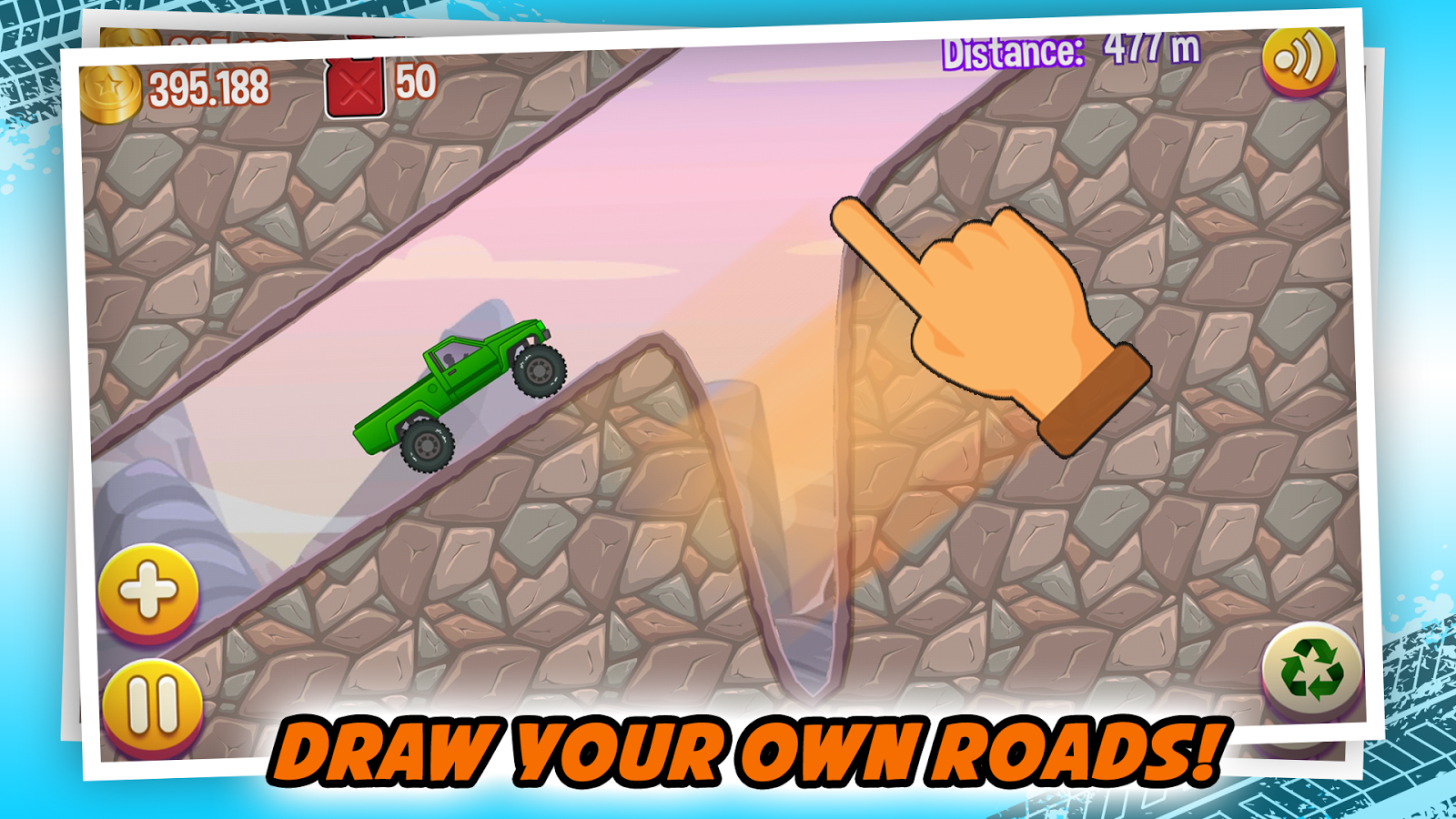 Road Draw: Climb Your Own Hills Screenshot 1