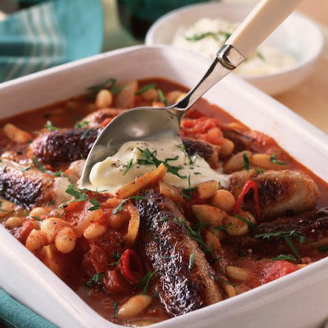 Spicy Sausage and Bean Casserole