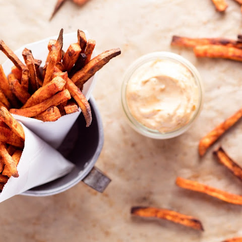 Spicy Sweet Potato Fries With Chipotle Mayonnaise