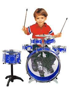 """Игровой набор серии """"Для творчества"""", ударная установка-барабан, синий"""