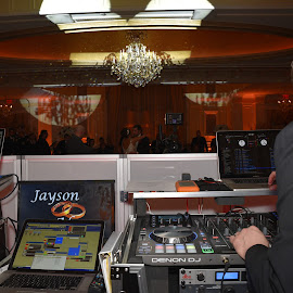 DJ at the Wedding  by Lorraine D.  Heaney - People Musicians & Entertainers
