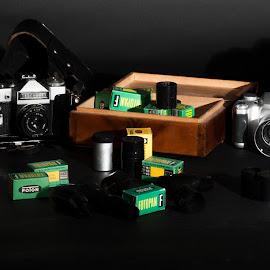Cameras by Aleksander Cierpisz - Artistic Objects Technology Objects ( old, cameracameras, eastern, ussr, zenit )