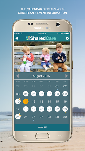 SharedCare Co-parenting - screenshot