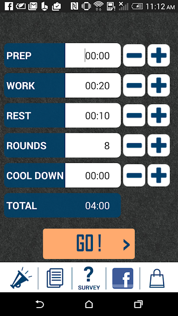 HIIT interval training timer screenshots