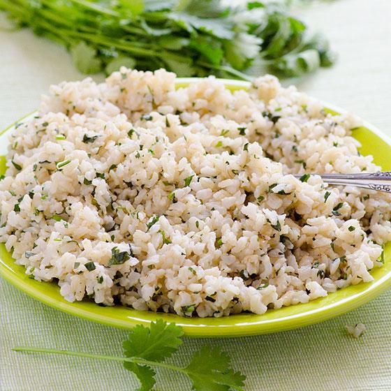 Cilantro Coconut Brown Rice Recipe | Yummly