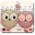 Valentine Owls Love Keyboard Theme