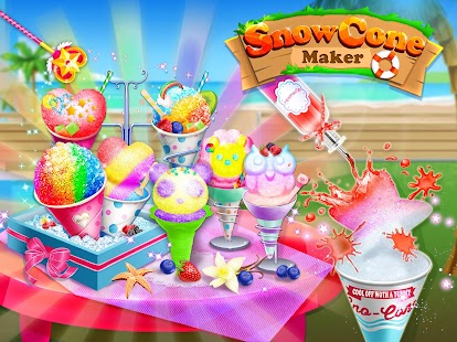 Snow Cone Maker - Frozen Foods APK for Bluestacks