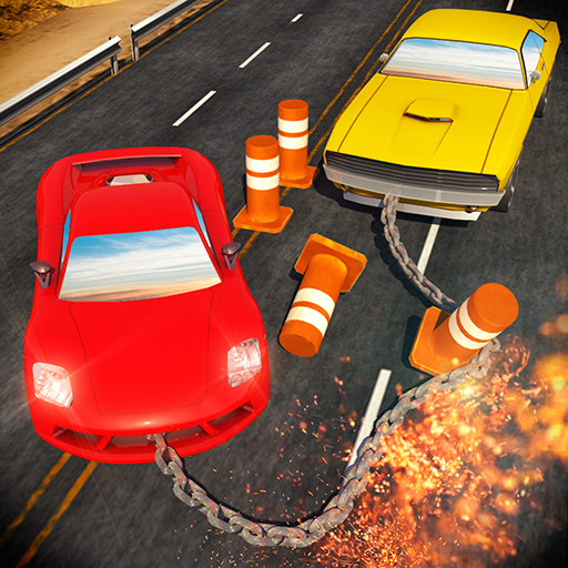 Chained Cars against Bollard (game)
