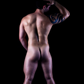Male Form by Mel Stratton - Nudes & Boudoir Artistic Nude ( body, strong, male, bottom, man )