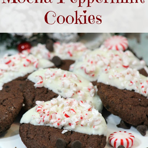 Mocha Peppermint Cookies